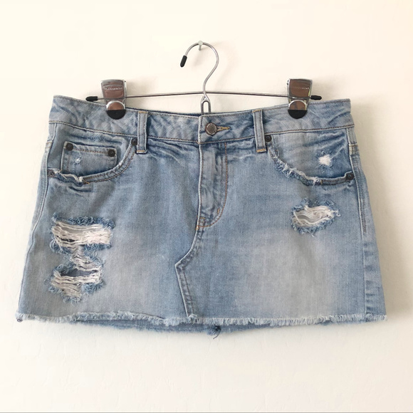 American Eagle Outfitters Dresses & Skirts - American Eagle Distressed Denim Mini Skirt
